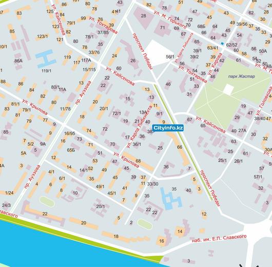 карта зыряновска с улицами и домами скачать